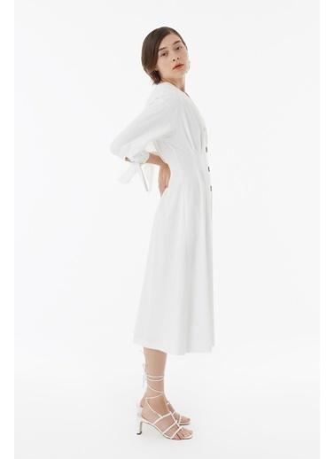 Exquise Elbise Beyaz